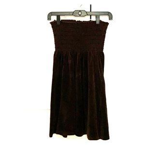 Juicy couture brown velour strapless dress